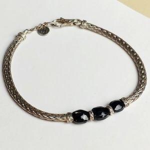 John Hardy classic chain silver black bracelet